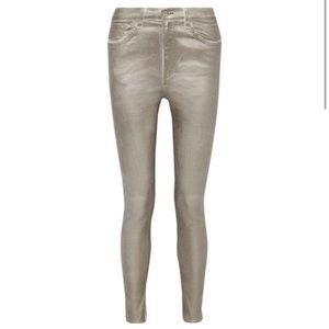 Rag & Bone: Metallic High Rise Skinny Jeans NWT